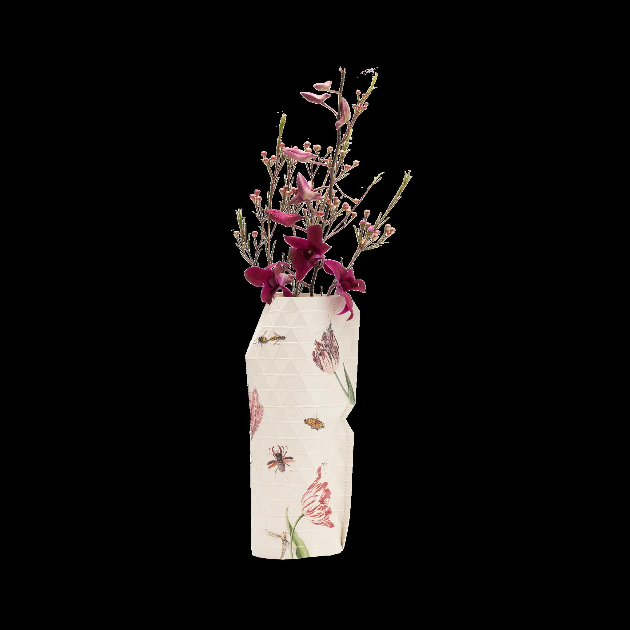 NIEUW: Papieren Vaas Vintage Tulips - Marrel (klein)-1