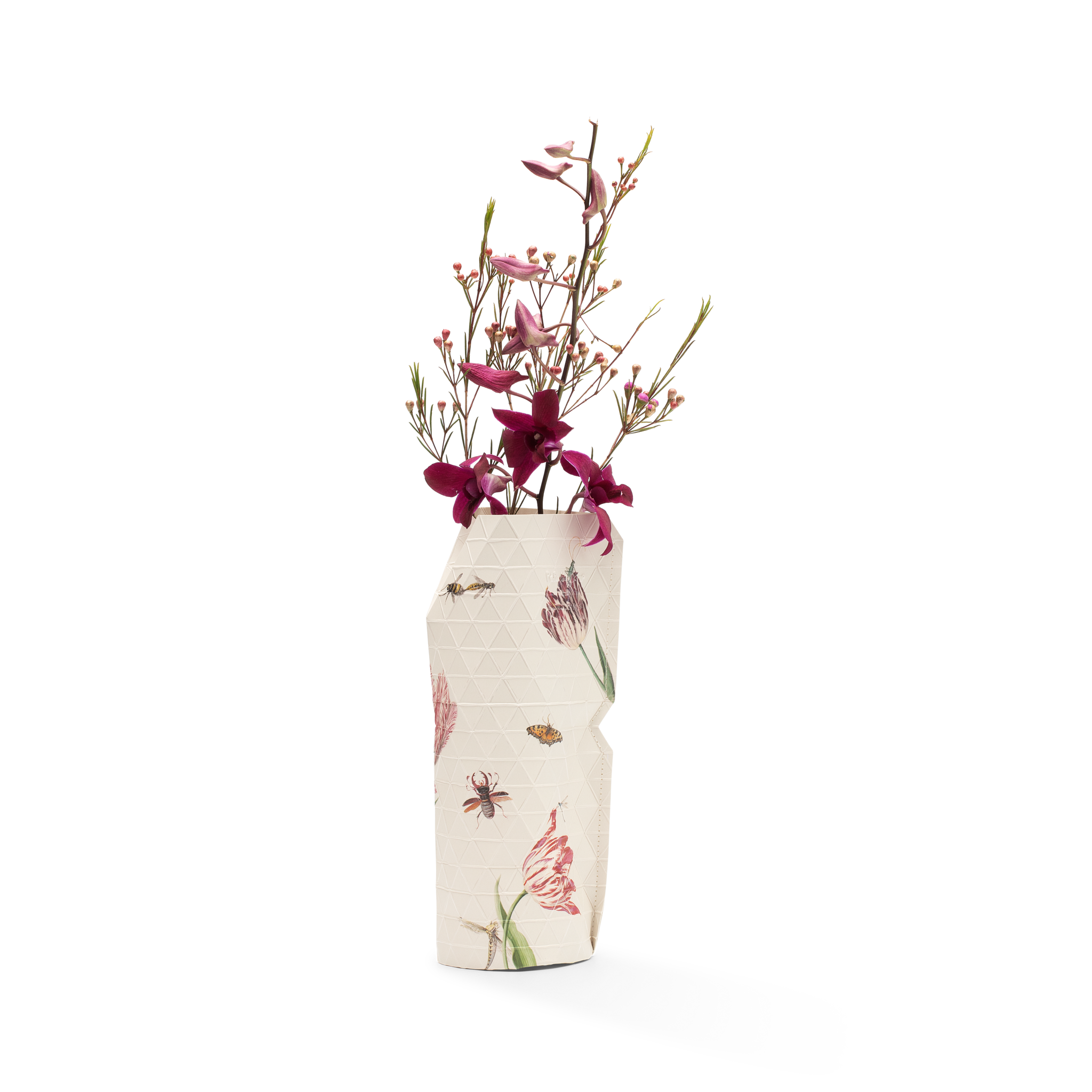 NEW: Paper Vase Cover Vintage Tulips - Marrel-1
