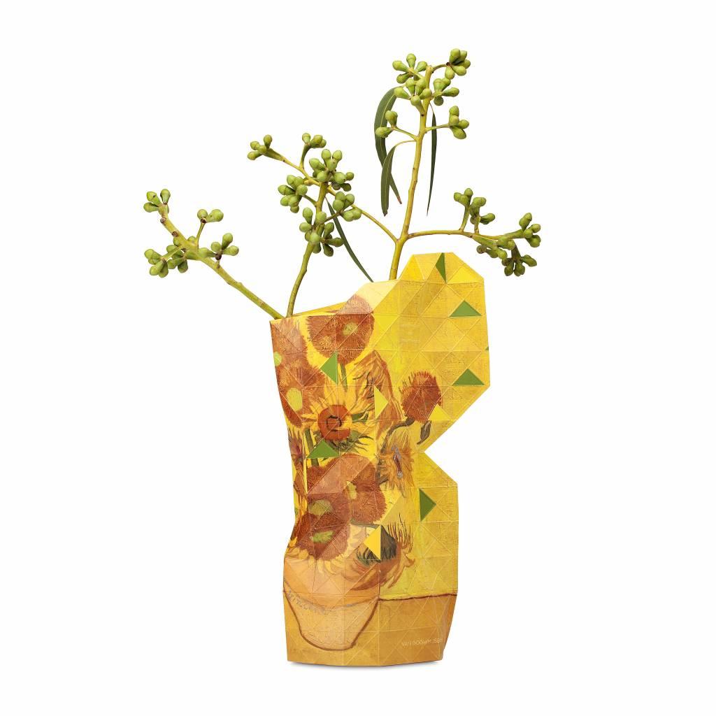 NIEUW: Papieren vaas zonnebloemen - klein-1