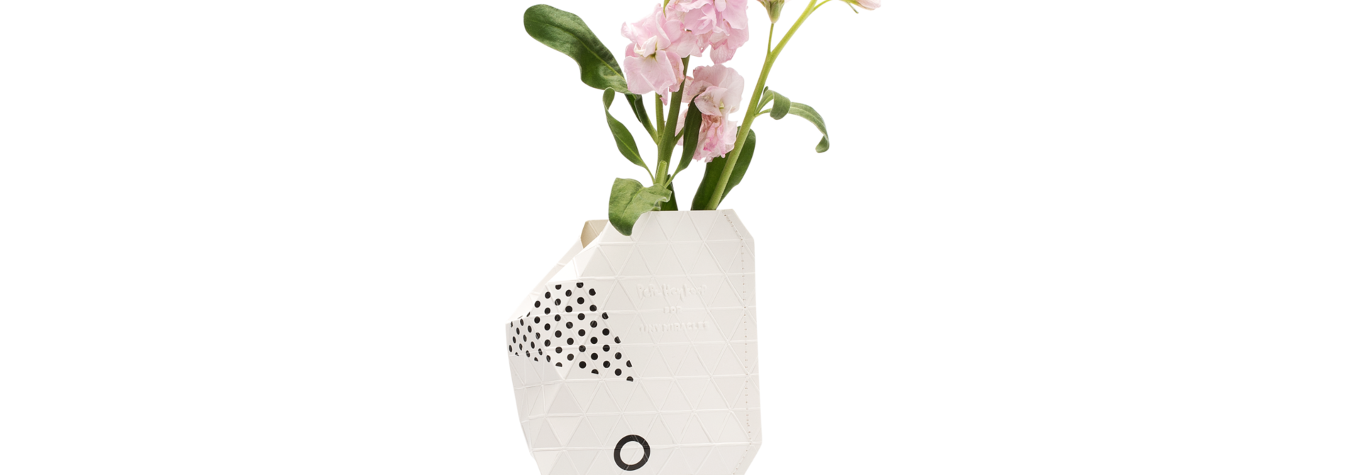 NEW: Paper Vase Cover Abstract Pink (small)