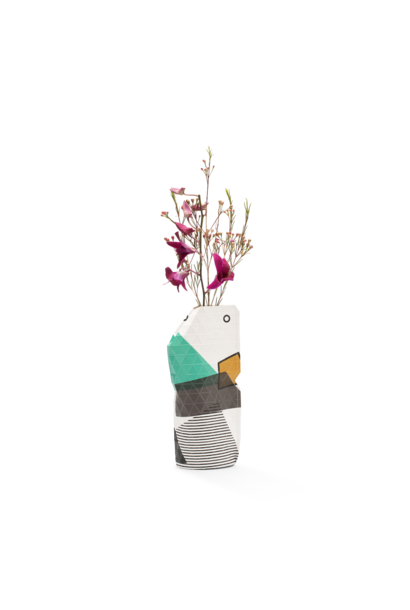 NEW: Paper Vase Cover Abstract Green small