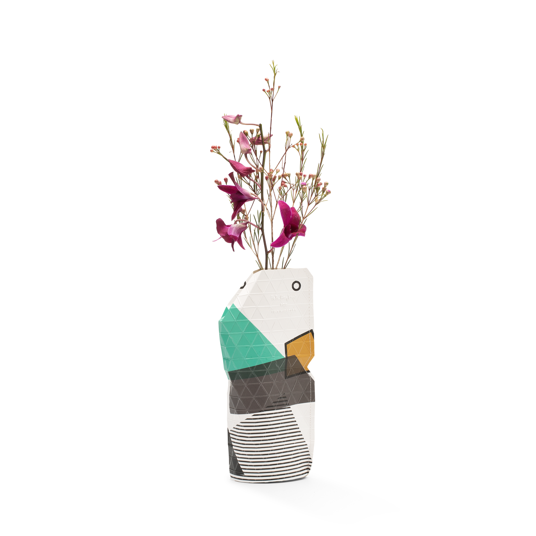 NEW: Paper Vase Cover Abstract Green small-1