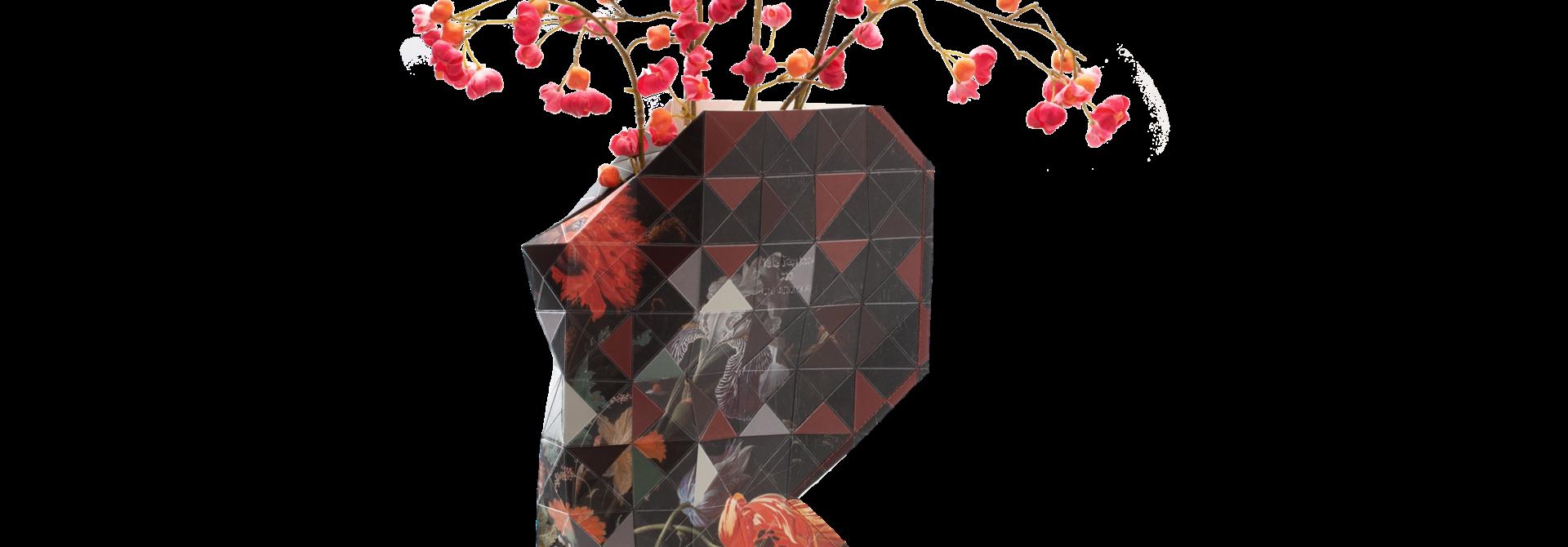 Papieren vaas Still Life with Flowers