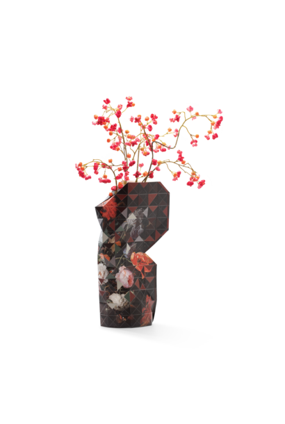 Paper Vase Cover Still Life with Flowers
