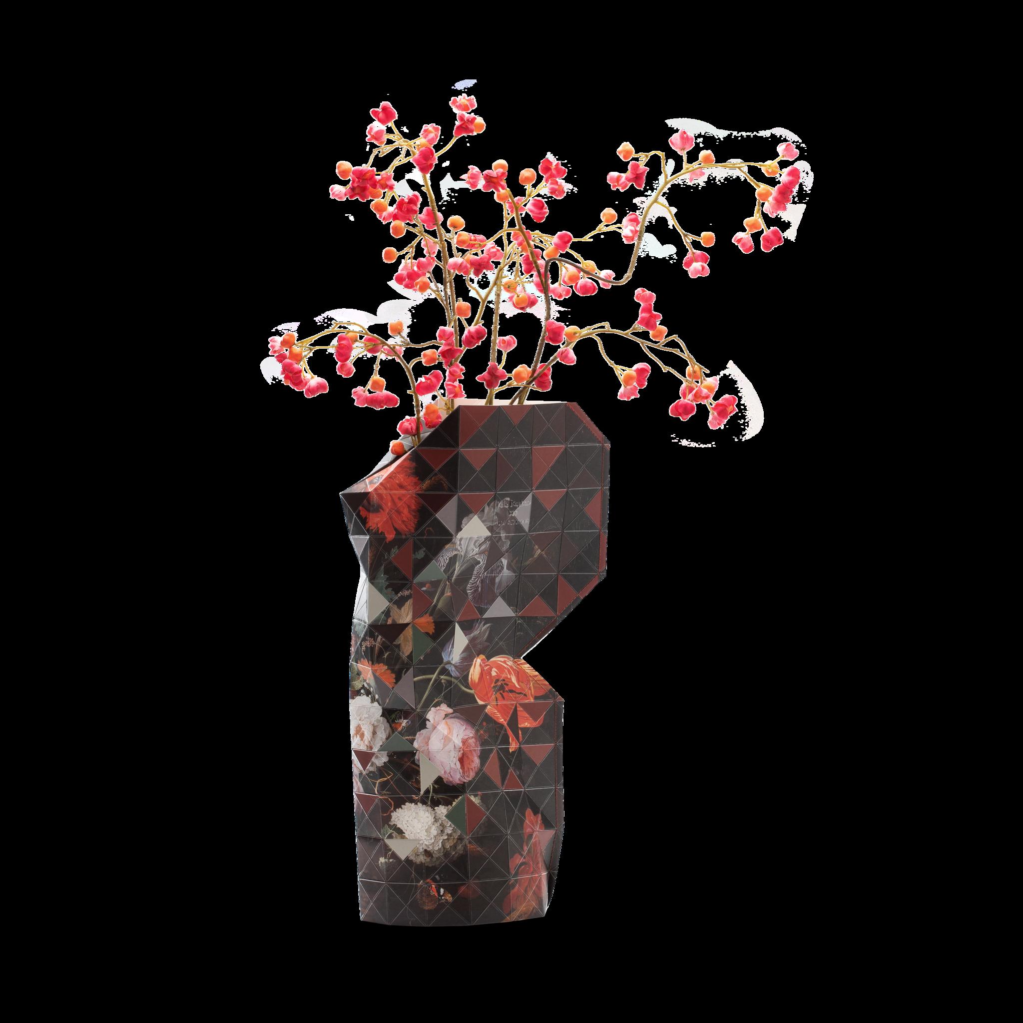 Papieren vaas Still Life with Flowers-1