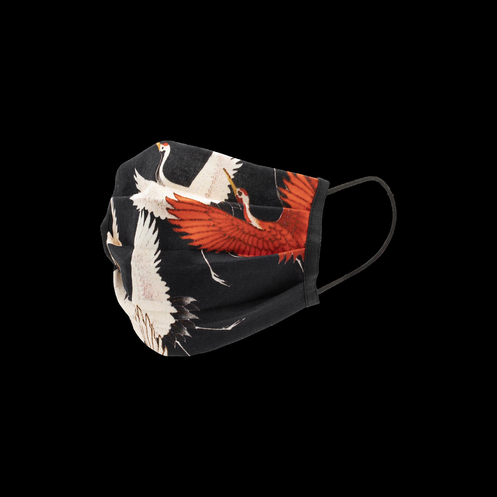 Kraanvogels mondkapje set van 2 - Duurzaam, Wasbaar, Herbruikbaar - 2-laags Katoen - Ademend - Print-1