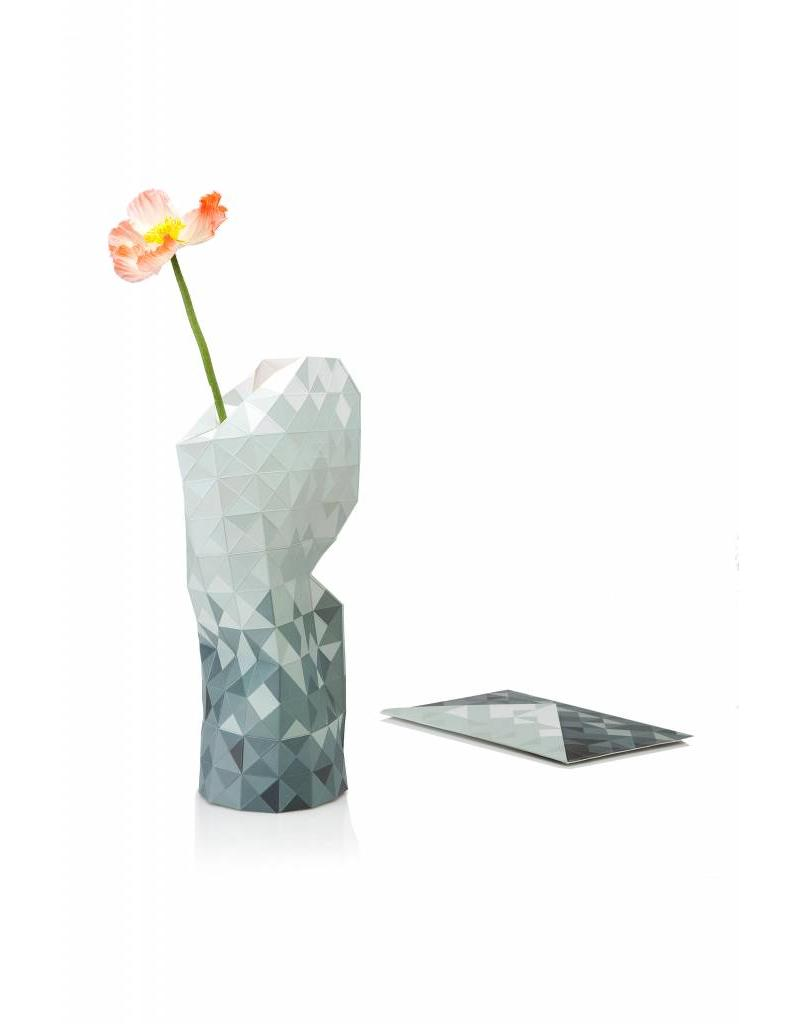 Paper Vase Cover Grey Gradient
