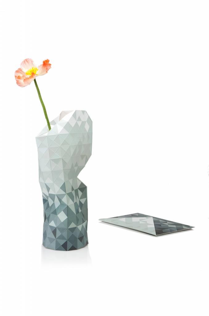 Paper Vase Cover Grey Gradient-2