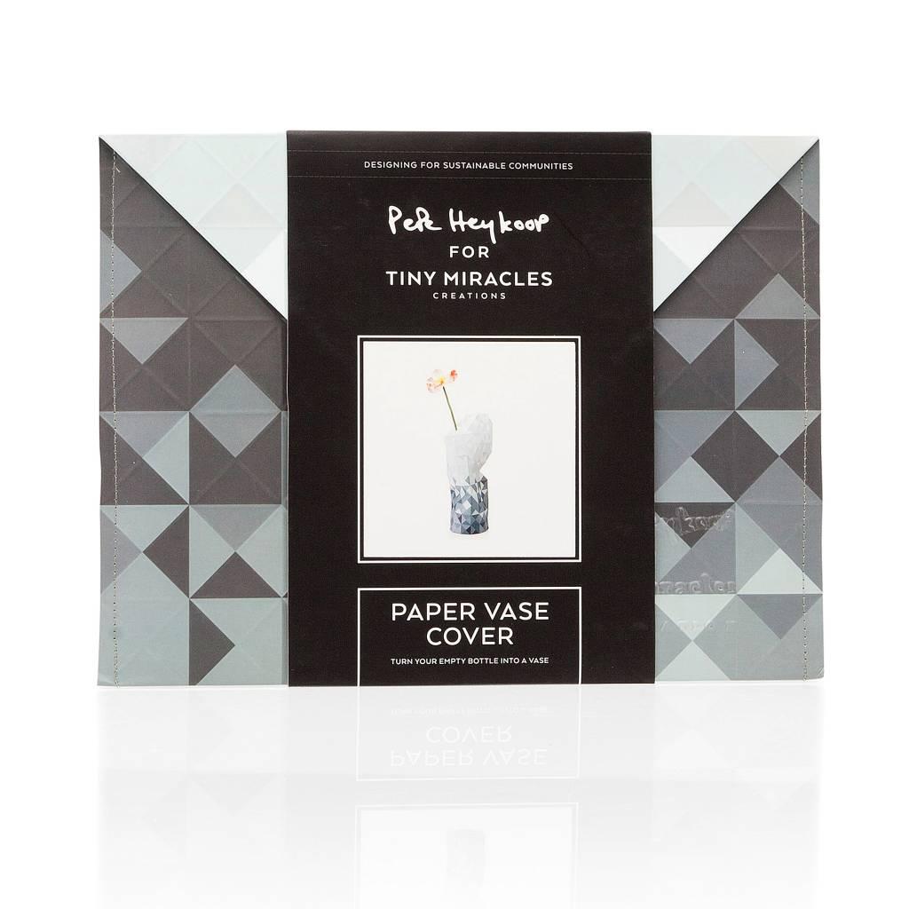 Paper Vase Cover Grey Gradient-3