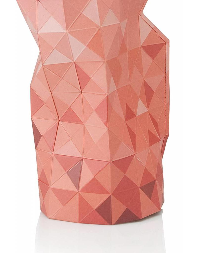 Paper Vase Cover Red Gradient