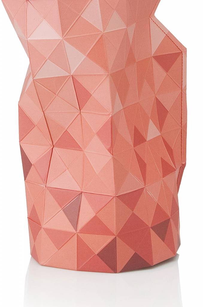 Paper Vase Cover Red Gradient-3