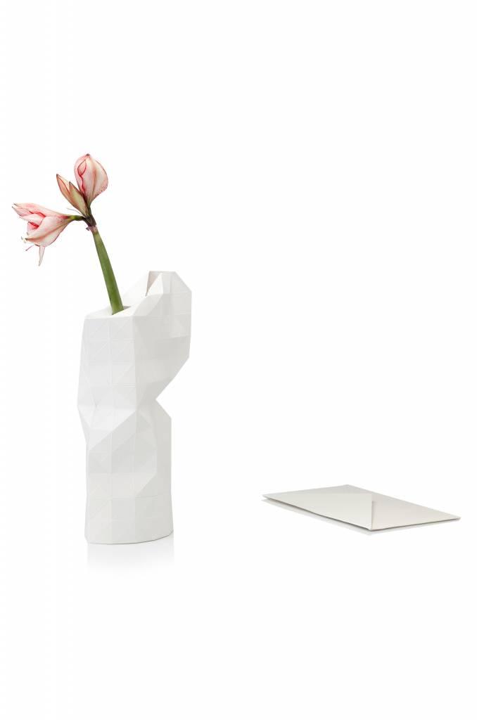 Paper Vase Cover White-2