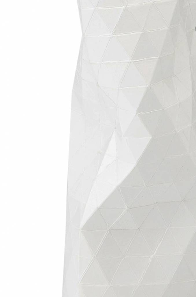 Paper Vase Cover Plain White (small)-3