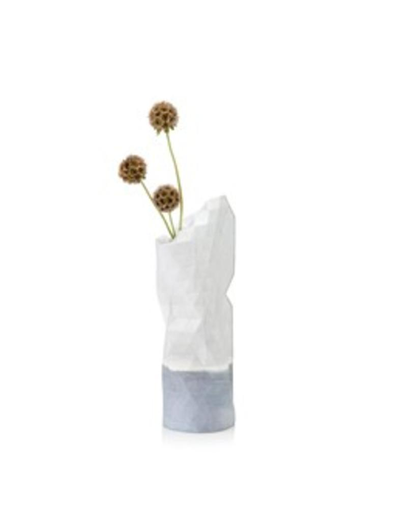Paper Vase Cover Watercolour White (small)