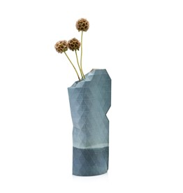 Paper Vase Cover Watercolour Blue (small)-1