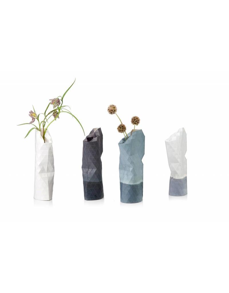 Paper Vase Cover Watercolour Blue (small)