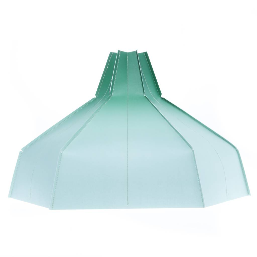 Folded Lampshade Green Gradient-1