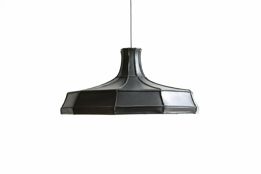 Leather Lampshade Horizontal Grey-1