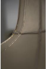 Leather Lampshade Horizontal Grey