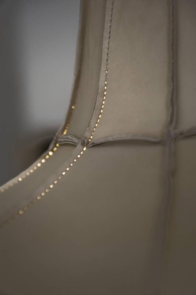 Leather Lampshade Horizontal Grey-3