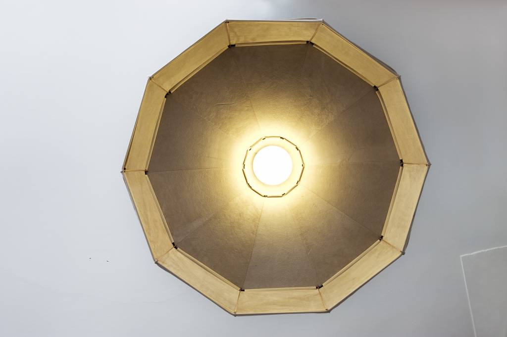 Leather Lampshade Horizontal Grey-4
