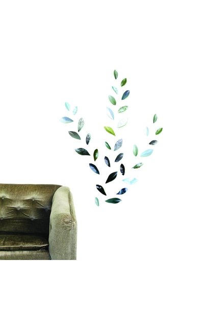Wallpaper Leaves Groen