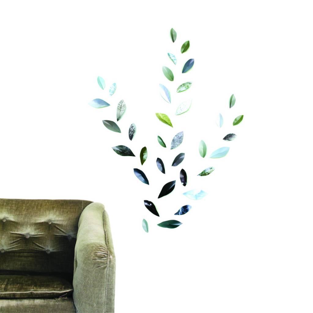 Wallpaper Leaves Green-1