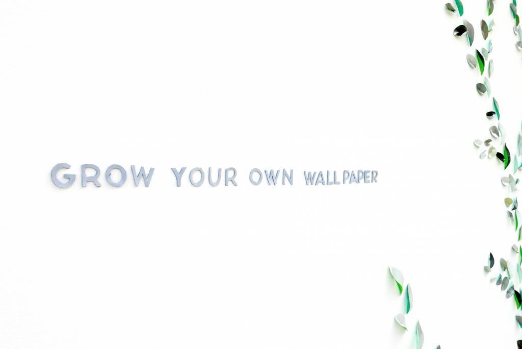 Wallpaper Leaves Green-2