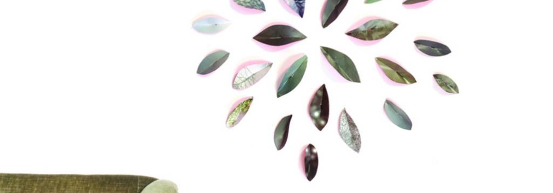 Wallpaper Leaves Roze