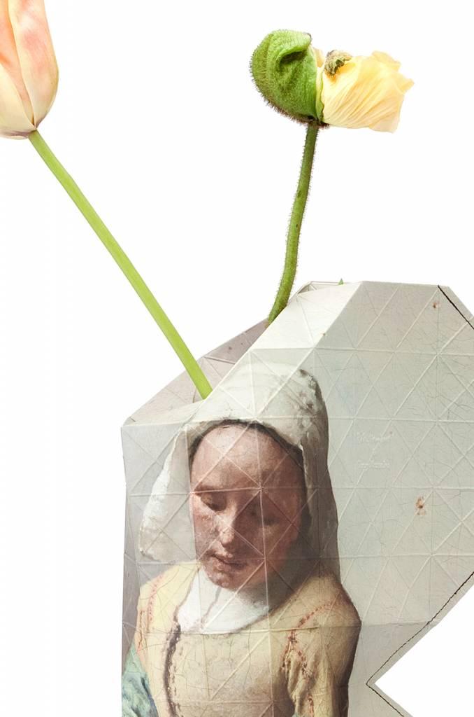 Papieren vaas het Melkmeisje Vermeer-3
