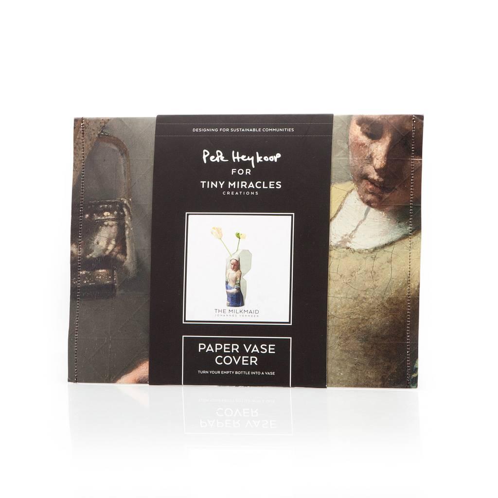 Paper Vase Cover 'Milkmaid' by Vermeer-4