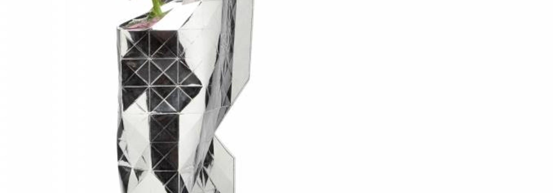 Paper Vase Cover Silver