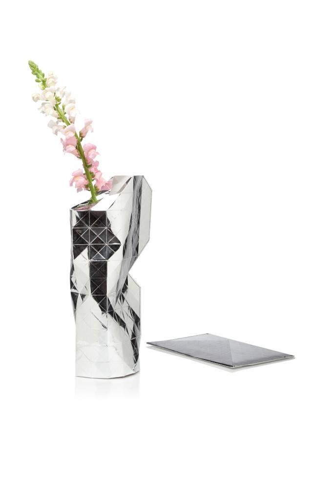 Paper Vase Cover Silver-1