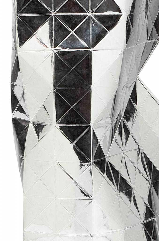 Paper Vase Cover Silver-2