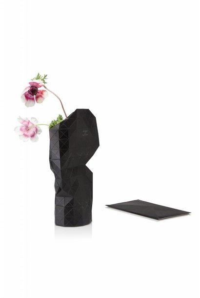 Papieren vaas zwart