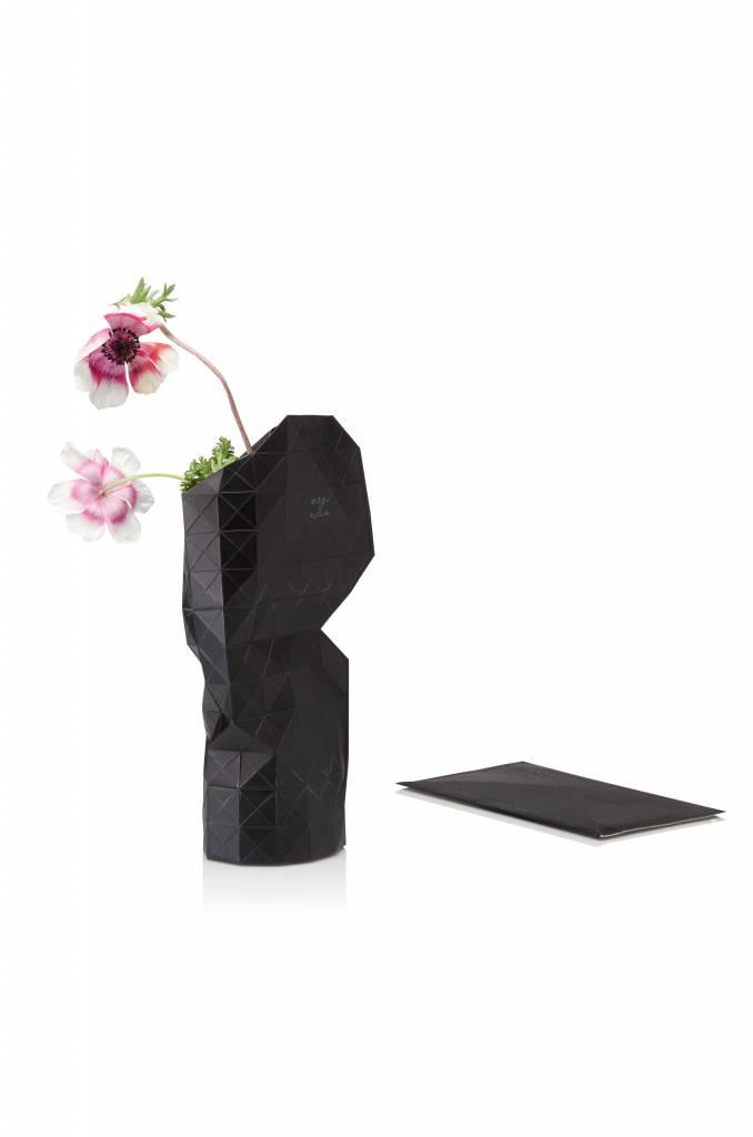 Paper Vase Cover Black-1