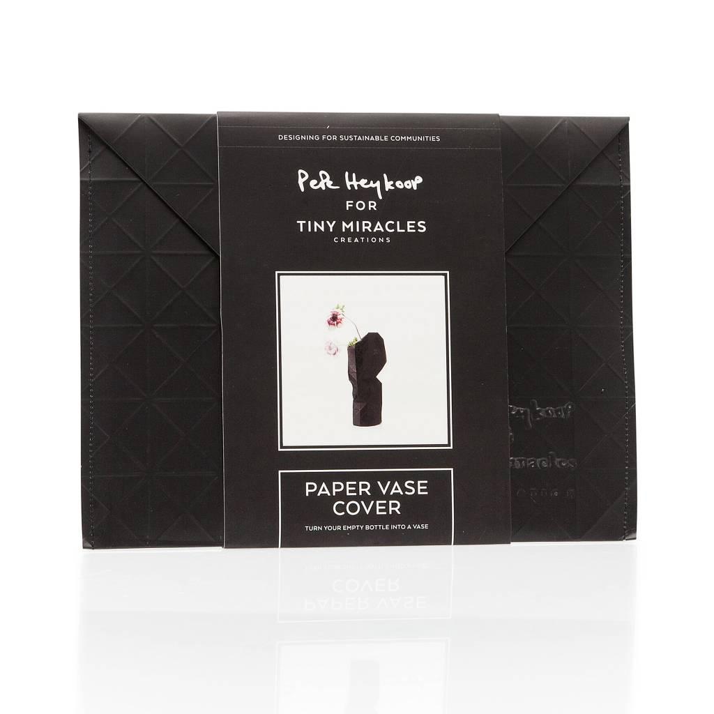 Paper Vase Cover Black-3