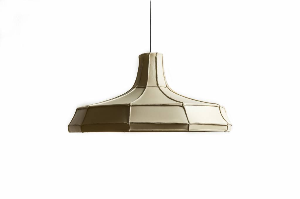 Leather Lampshade Horizontal Beige-1