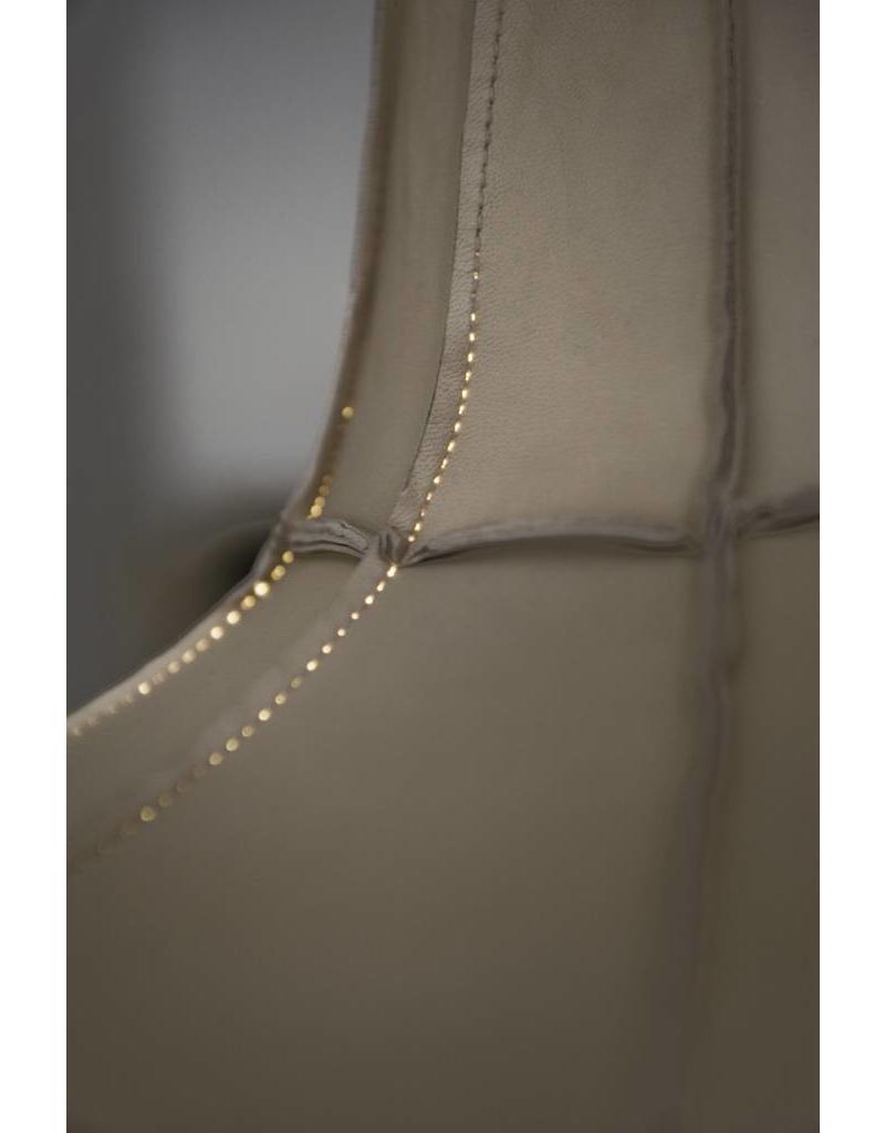 Leather Lampshade Horizontal Beige