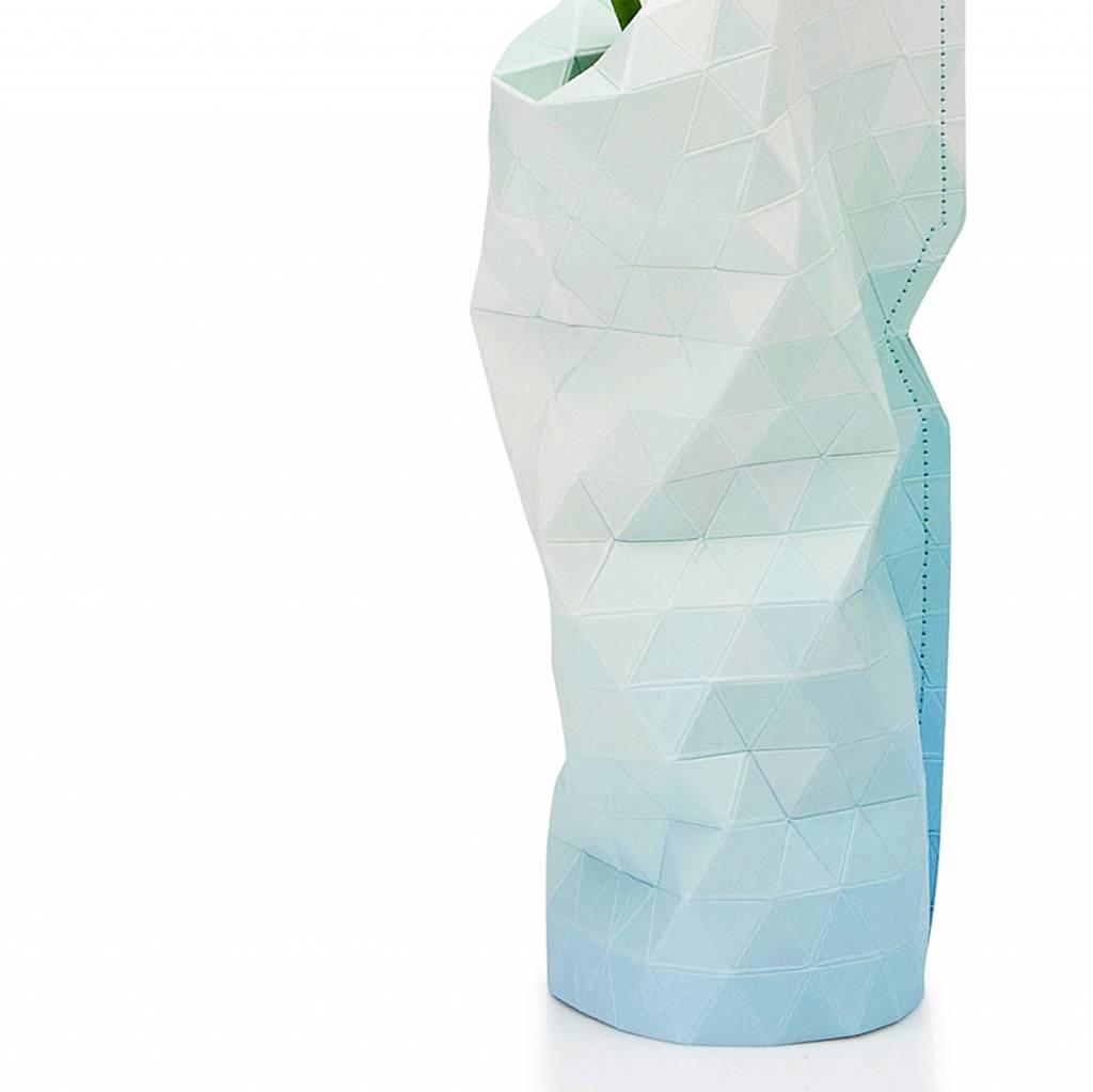 Paper Vase Cover Blue Tones (small)-2