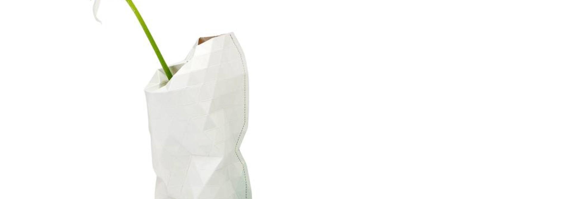 Paper Vase Cover Grey Tones (small)