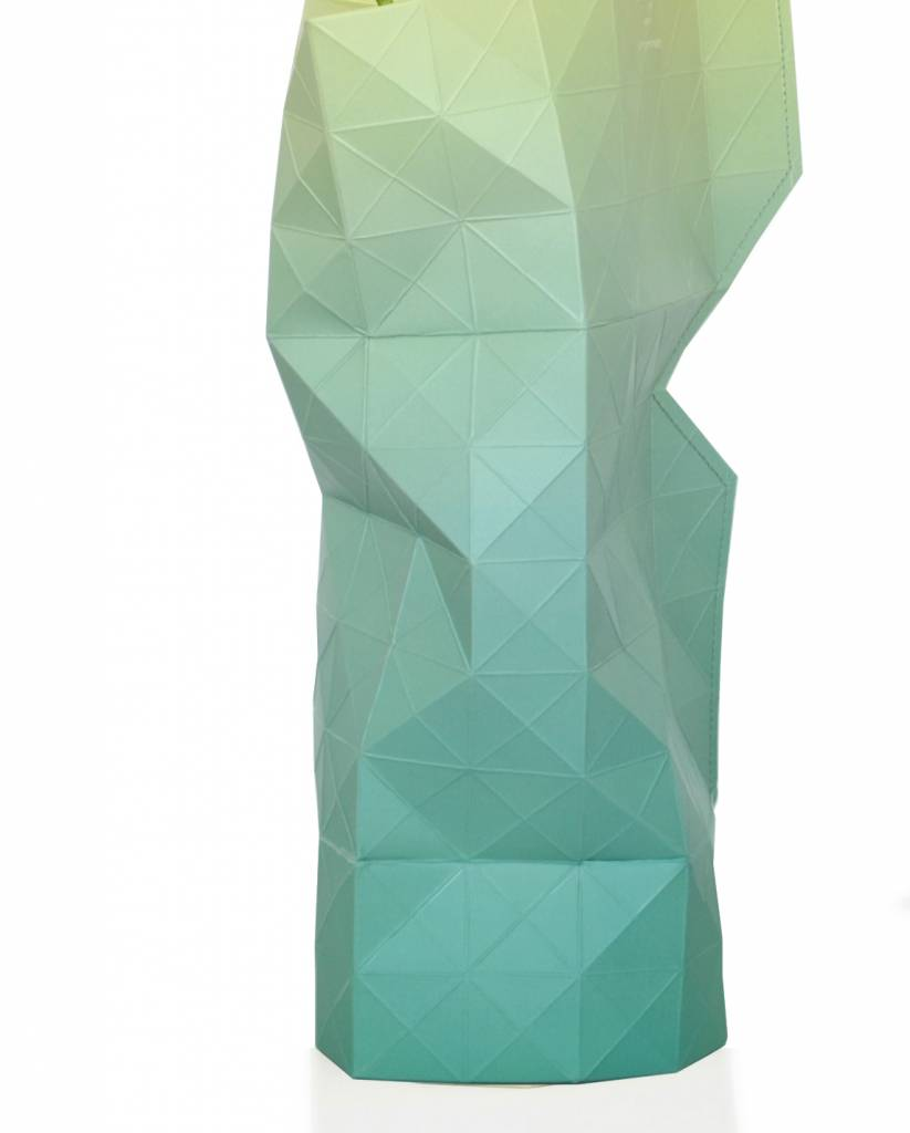 Paper Vase Cover Green Fade-2