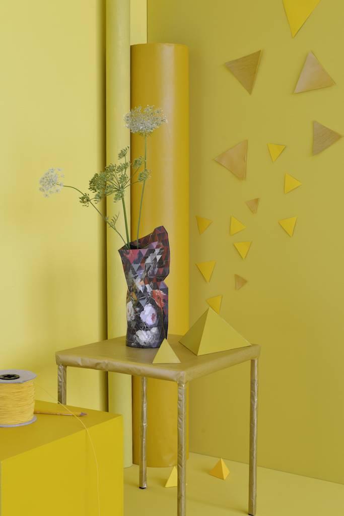 Papieren vaas Still Life with Flowers (klein)-2
