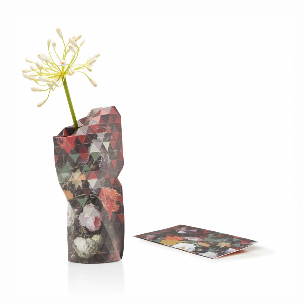 Paper Vase Cover Still Life with Flowers (small)-1