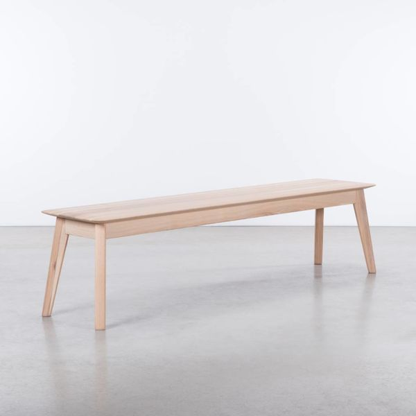 bSav & Økse Samt Dining Table Bench Oak Whitewash