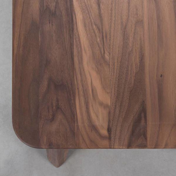 bSav & Okse Samt Dining Table Bench Walnut