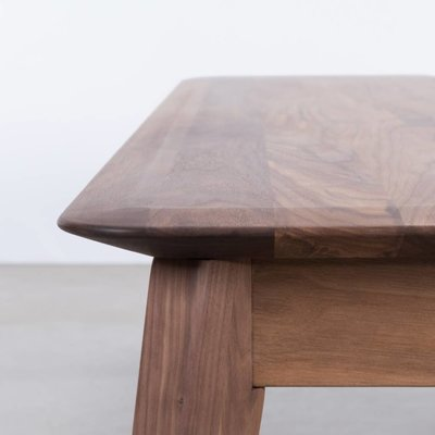 Sav & Okse Samt Dining Table Bench Walnut