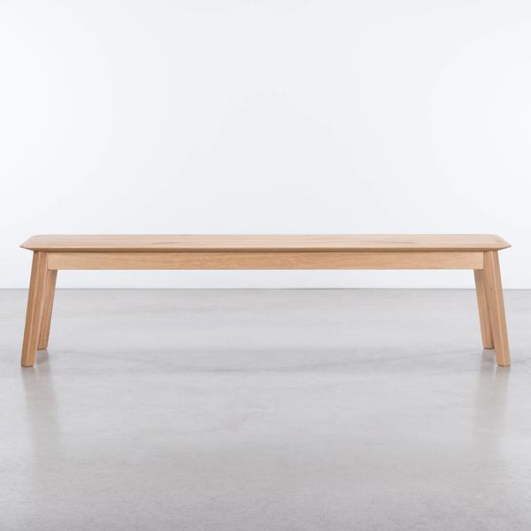 bSav & Okse Samt Dining Table Bench Oak