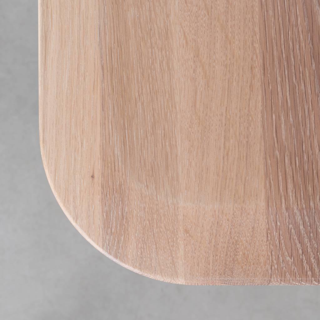 Vierkante Salontafel Met Afgeronde Hoeken.Samt Tafel Eiken Whitewash