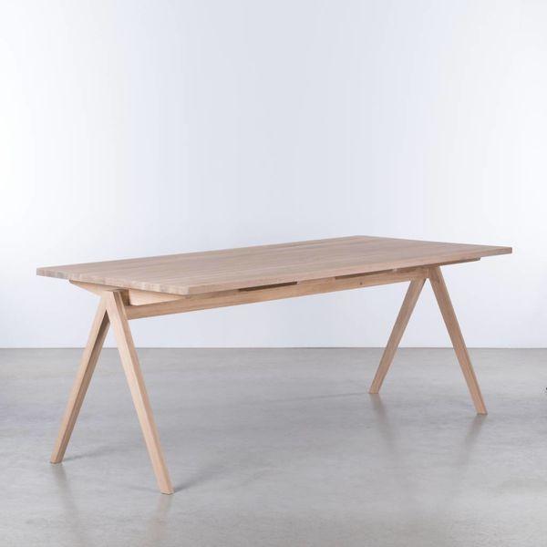 bSav & Okse TD4 Wood table Oak Whitewash
